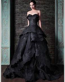 black gothic wedding dresses sweetheart lace ball gown