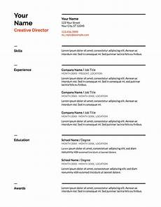 How To Make A Resume For A Job Example Our 5 Favorite Google Docs Resume Templates