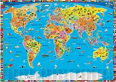 Kinder Malvorlagen Landkarten Illustrierte Politische Weltkarte Im Kinderpostershop Kaufen