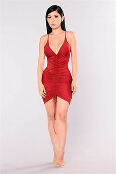 fashionova clothes shanghai ruched dress burgundy