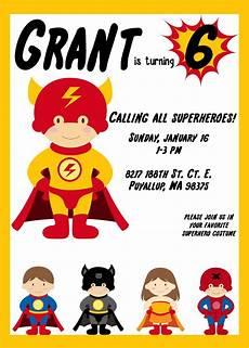 Printable Superhero Invitations Free Printable Superman Invitations