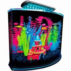5 Gallon Tank Light Glofish 5 Gallon Crescent Aquarium Kit Petco