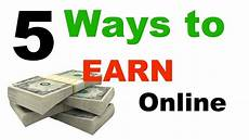 Best Way To Manage Money Top 5 Best Ways To Earn Money Online Youtube