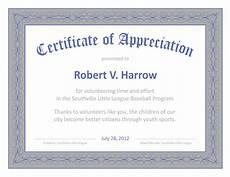 Certificate Of Apreciation Certificate Templates