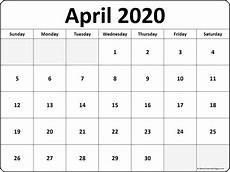print calendar april 2020 april 2020 blank calendar templates