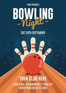 Bowling Flyer Bowling Night Flyer Template Vector Premium Download