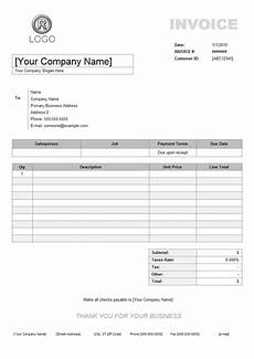 Example Of Invoice Receipt Service Invoice Example