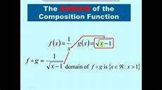 Function Domain Lesson 7 Composite Functions And Domain And Range Youtube
