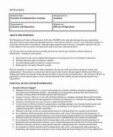 Senior Executive Assistant Job Description Free 8 Sample Executive Assistant Job Description