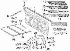 toyota tacoma truck bed side rail 5 ft bed w o toneau
