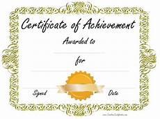 Certificates Of Achievement Free Templates Certificate Of Achievement Certificates Templates Free