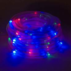 Solar Rope Lights Solar Powered 100 Red Green Blue Led Rope Outdoor