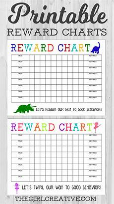 Sticker Reward Charts For Toddlers Printable Reward Chart The Girl Creative Printable