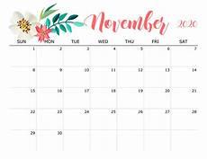 November 2020 Calendar Printable Cute November 2020 Calendar Wallpaper Printable Calendar