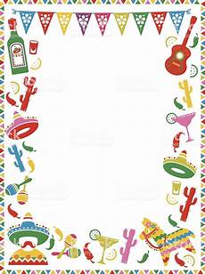 Fiesta Border Template Mexican Party Frame Stock Illustration Download Image