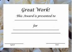 Employee Award Templates Free Free Printable Award Certificates For Kids Free
