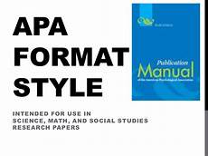 Apa Formatting For Powerpoint Apa Format Style Power Point