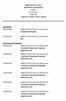 Sample Of A Cv Format Sample Doctor Cv Template Free Samples Examples