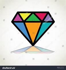 Diamond Logo Design Color Diamond Logo Design Illustration Stock Vector