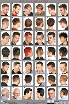 Barber Shop Haircut Styles Chart 07wm Mens Hairstyle Guide Poster Barber Depot