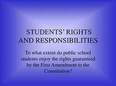 Student Rights And Responsibilities Ppt Students Rights And Responsibilities Powerpoint