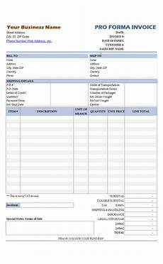 What Is A Proforma Invoice Proforma Invoice Sample No Commercial Value