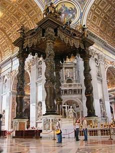 baldacchino di san pietro photos of rome basilica in vatican part
