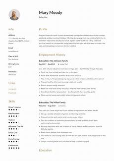 Babysitter Responsibilities Resume Babysitter Resume Example Amp Writing Guide 12 Samples