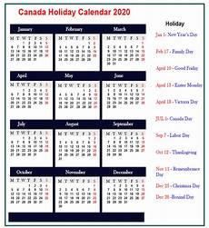 2020 Calendar Canada Public Holidays In Canada 2020 Best Printable Calendar