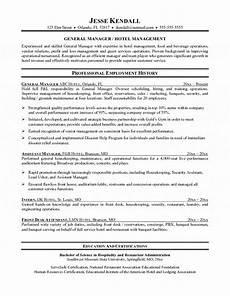 Hospitality Manager Resume Hotel Manager Resume