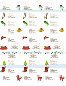 Avery 5160 Christmas Labels Gift Tag Labels Christmas Spirit Design 30 Per Page