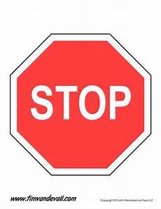 Printable Sign Stop Sign Template Tim Van De Vall