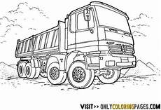 mercedes truck coloring sheets with images