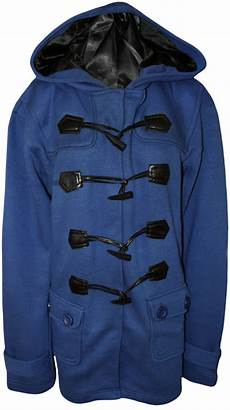 toggle coats size 20 new womens plus size plain button hooded toggle