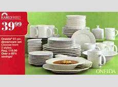 Black Friday Deal: Oneida Picnic 61 pc. Dinnerware Set