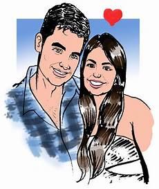 arte caricatura desenho casal r 58 99 em mercado livre