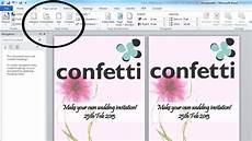 How To Make Invitations On Microsoft Word How To Make Your Own Wedding Invitations Confetti Co Uk