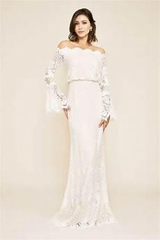 izumi the shoulder bell sleeve wedding gown david s