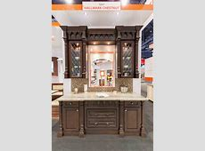 Fabuwood Cabinetry KBIS 2016 booth   featuring Formica® 180fx® Travertine Silver   180fx