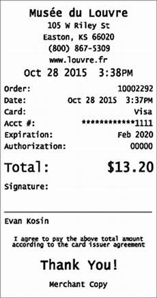 Credit Card Receipts Template Credit Card Receipts