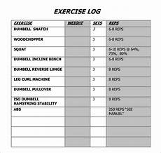 Fitness Log Example Free 7 Sample Exercise Log Templates In Pdf Ms Word