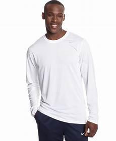 nike sleeve shirts nike legend sleeve dri fit t shirt in white for