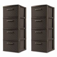 4 drawer storage cabinet cart plastic set of 2 home office