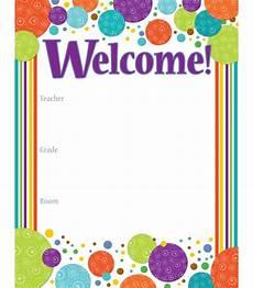 Welcome Chart For Classroom Calypso Welcome Chart Grade Pk 8 Carson Dellosa Publishing