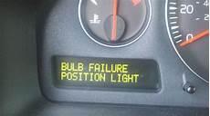 Volvo Position Light Warning Bulb Failure Position Light Matthews Volvo Site
