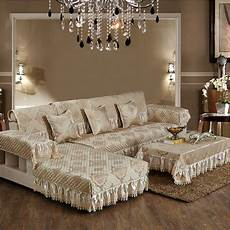 european style luxury sofa cover with lace single