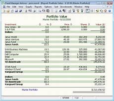 Asset Management Report Sample Investment And Portfolio Management Software Fund