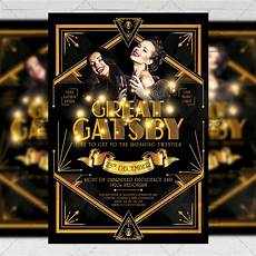 Great Flyers Great Gatsby Night Club A5 Flyer Template