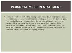 Examples Of Personal Mission Statements For Career Career Portfolio Karley Constantineau