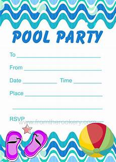 Pool Party Invites Free Printables Pool Party Invitation